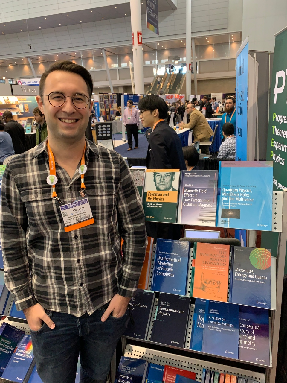 Me and my dissertation on display at the March Meeting